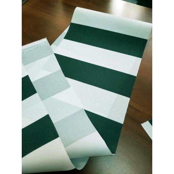 Оксфорд 300, полоска белая/зеленая